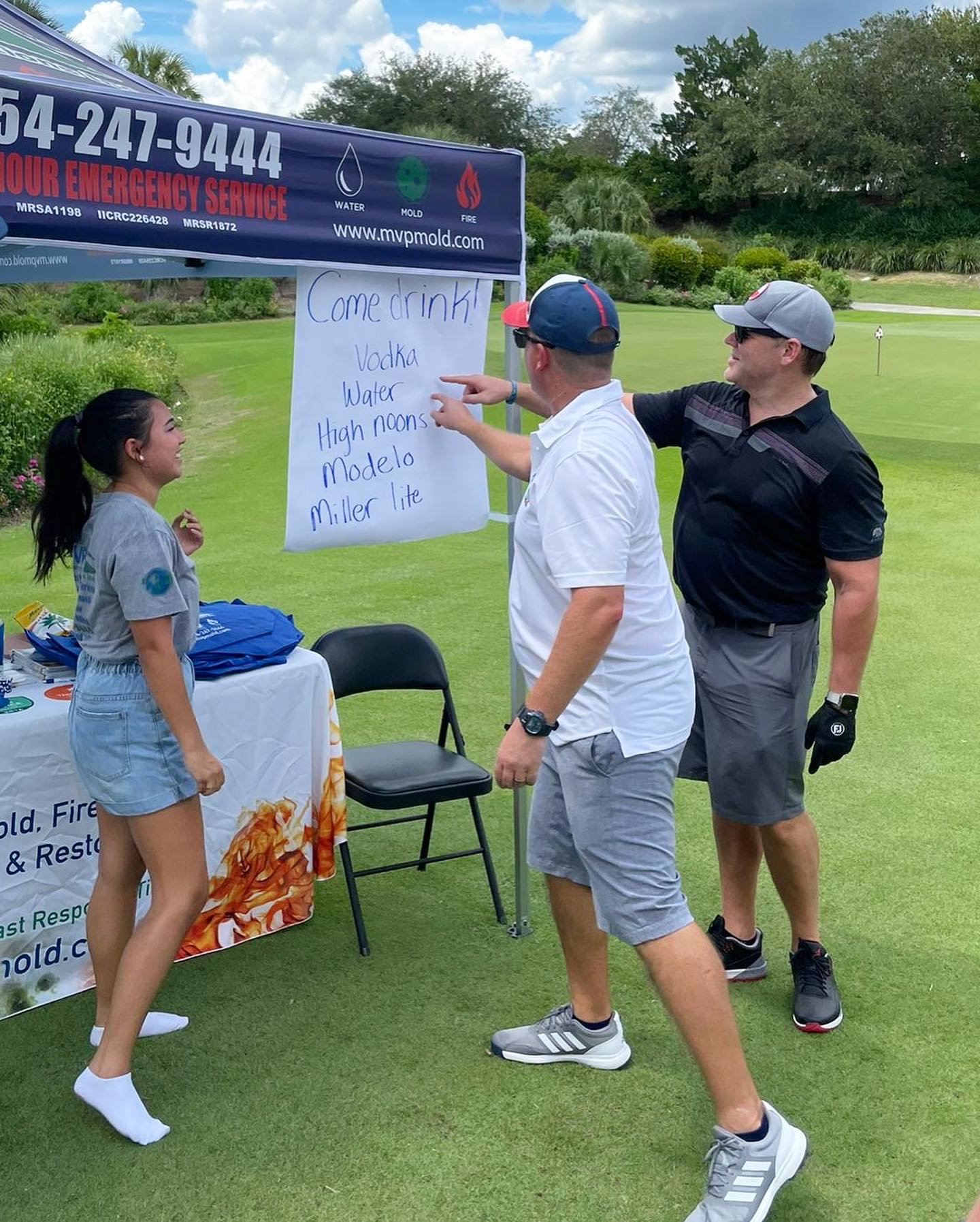 MVP Tent sponsors at Make our Schools Safe Golf Classic
